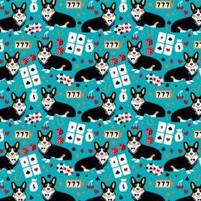 corgi casino fabric tricolored corgi design las vegas gambling fabric