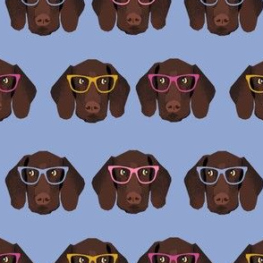 german shorthaired pointer in glasses fabric