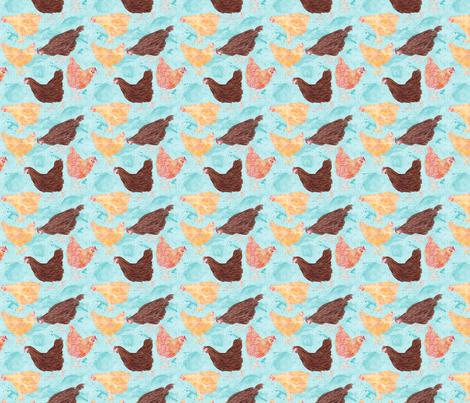 Memphis Chicken Coop fabric by natalievmason on Spoonflower - custom fabric