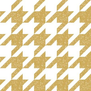 The Houndstooth Check ~ Neutral Honey Gilt Patina