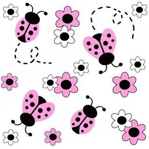 Pink Ladybug Floral