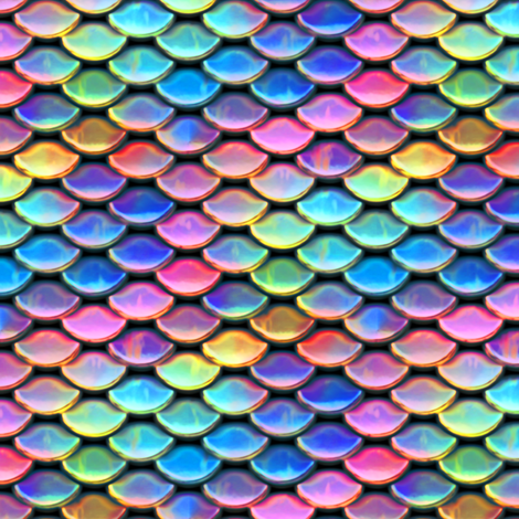 Scales ~ Mermaid ~ Bright  fabric by peacoquettedesigns on Spoonflower - custom fabric