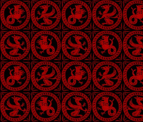 R13th_century_dragon_tile___richelieu_red_on_black____peacoquette_designs___copyright_2016_shop_preview