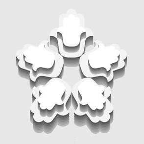 Hamsa Flower Cutouts