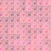 Heart Squares in Pink
