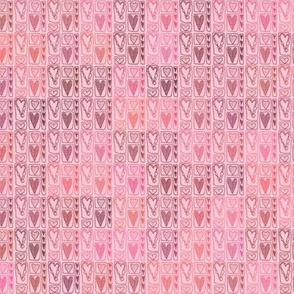 Heart Squares in Pink, Small