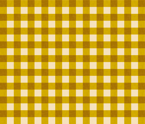 gingham_mustard small fabric by holli_zollinger on Spoonflower - custom fabric