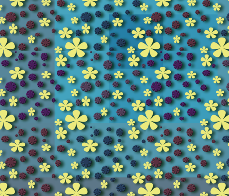 Paper flowers on paper squares fabric by flutterbi on Spoonflower - custom fabric