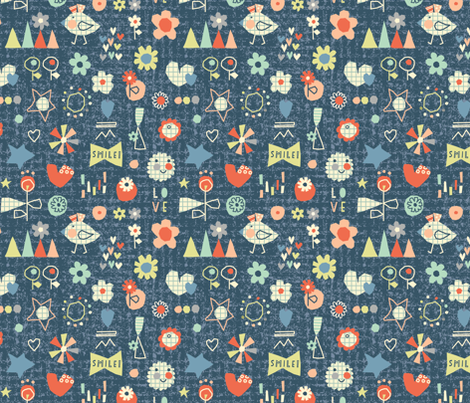A Day In A Spring Garden fabric by amel24 on Spoonflower - custom fabric