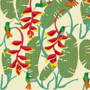 hummingbird paradise [heliconia cactus]
