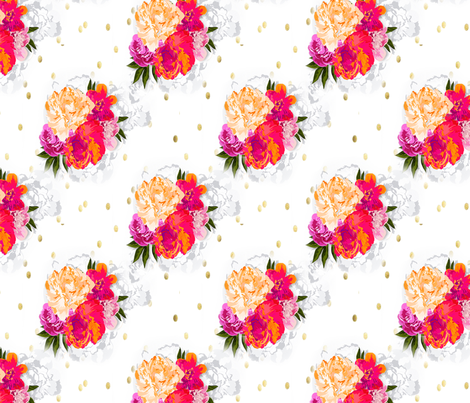 Elegant Floral  fabric by sweet_peach on Spoonflower - custom fabric