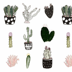 Vintage Cacti Friends