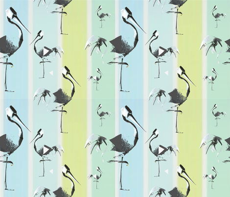 Impressions of a paper crane fabric by floramoon_designs on Spoonflower - custom fabric