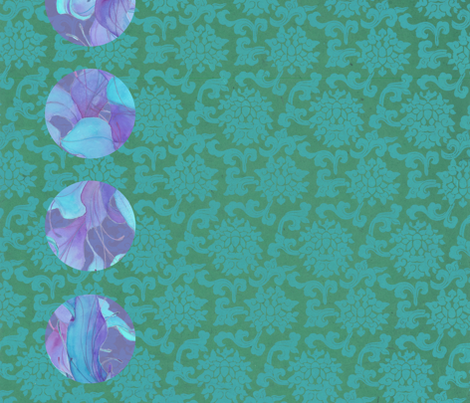 AC-teal-lapis-dots-on-teal fabric by greenlotus on Spoonflower - custom fabric