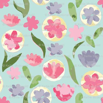Cut Paper Pastel Floral