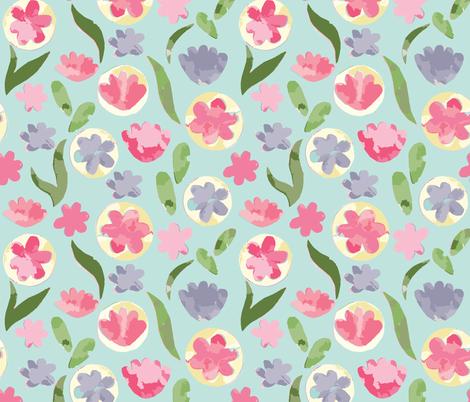 Cut Paper Pastel Floral  fabric by kellie_jayne_ on Spoonflower - custom fabric
