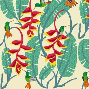 hummingbird paradise [heliconia dew]