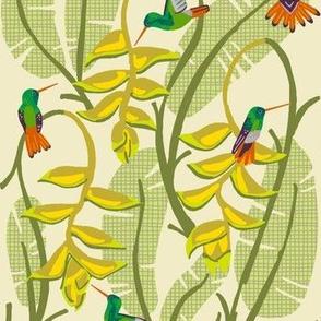 hummingbird paradise 4 [heliconia yarrow]