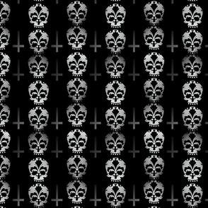 Fleur De Lis Skulls