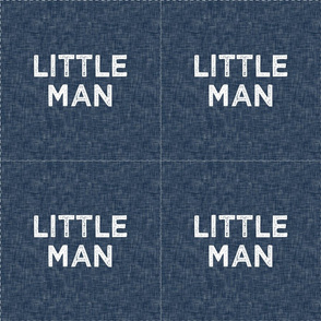 "9"" Little Man Quilt Block with cut lines"