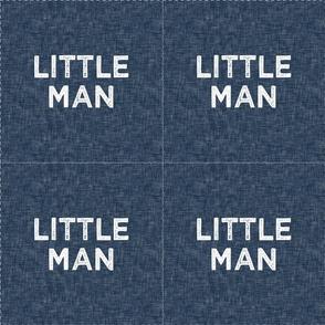 "9"" Little Man Quilt Block with cut lines"