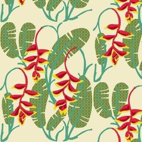 heliconia foliage [dew + cactus]