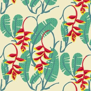 heliconia foliage [dew]