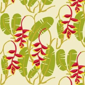 heliconia foliage [cactus green]