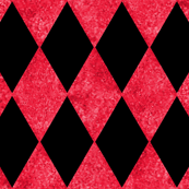 Harlequin Diamonds ~ Black and Red Mosaic