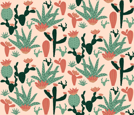 SWEET SUCCULENTS fabric by bluevelvet on Spoonflower - custom fabric