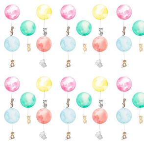 Watercolor Nursery Balloon Animals