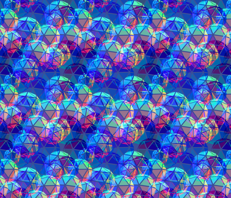 Geodesic Blues fabric by elramsay on Spoonflower - custom fabric