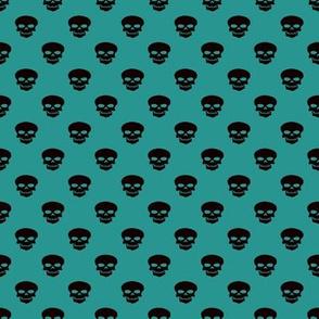 Skulls on Teal