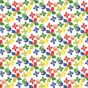 Matisse-like Colorful Paper-cut Floral Design