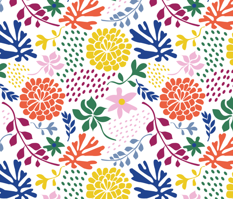 Paper_flower_summerhouse_print fabric by ravnorr on Spoonflower - custom fabric