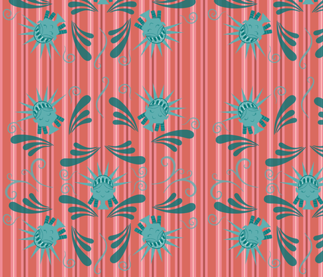 Lady Liberty fabric by kendra_tierney on Spoonflower - custom fabric