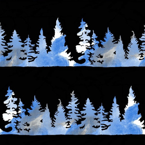 Blue Forrest Trees