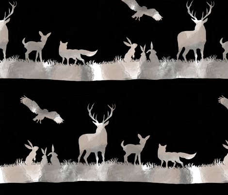 Grey Woodland fabric by miasorella_textiles on Spoonflower - custom fabric