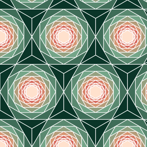 06282611 : R6 VEV... : succulent hexagons and triangles fabric by sef on Spoonflower - custom fabric