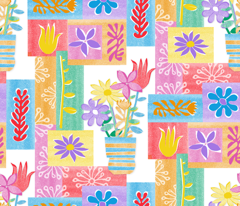 Still_Life_with_Paper fabric by j9design on Spoonflower - custom fabric