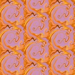 Russet Golden  Swirls Trellis