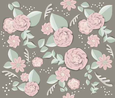 Paper_Flowers fabric by sketchedup on Spoonflower - custom fabric