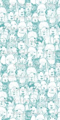 just alpacas teal white