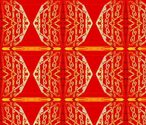 New Year celebration-red fabric by miamaria on Spoonflower - custom fabric