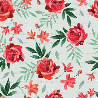 Paper cut floral