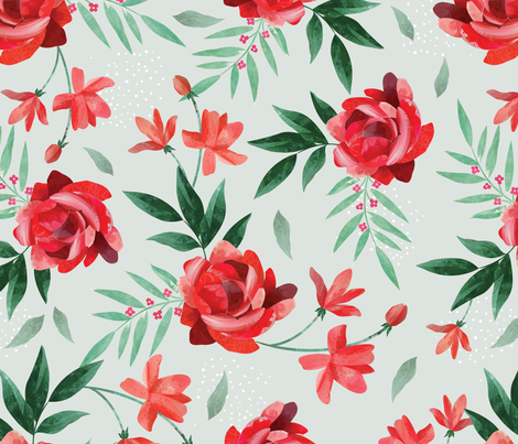 Paper cut floral fabric by mister-moon on Spoonflower - custom fabric