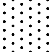 White and Black Polka Dots