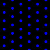 Black and Blue Polka Dots