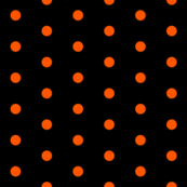Black and Orange Polka Dots