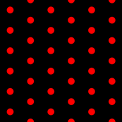 Black and Red Polka Dots